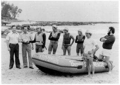 First IRB - In December 1980, J.B. Young's store in Moruya donated half the money for the club's first I.R.B., the remainder of the money came from a $ for $ grant.
